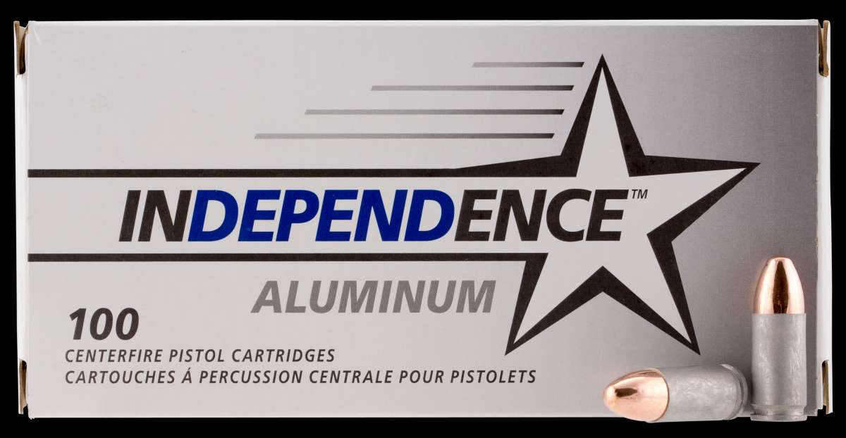 CCI IAL9115100 Independence 9mm Luger 115 GR Full Metal Jacket 100 Bx/ 5 Cs